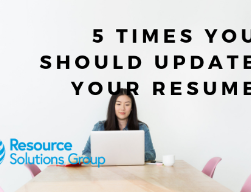 5 Times You Should Update Your Resume